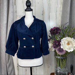 Marc Jacobs Velvet Peplum Crop jacket sz S